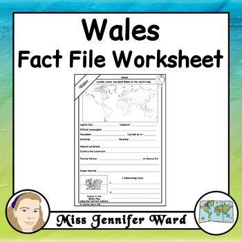 Wales Fact File Worksheet