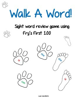 Walk A Word!  Sight Word Review Game Using Fry's First 100