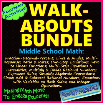 Walk-About Bundle for Middle School Math