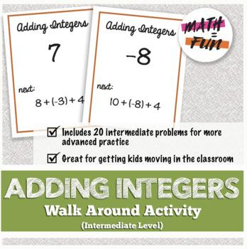 Walk Around Activity: Adding Integers Review