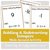 Walk Around Activity: Adding & Subtracting Integers Review