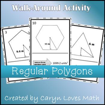 Area of Regular Polygon Walk Around Activity