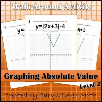 Graphing Absolute Value Functions~ Level 2~Shifting/Reflecting and Translating
