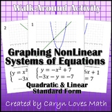 Graphing Nonlinear Systems of Equations~Linear~Quadratic~Activity