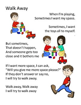 Walk Away Social Story