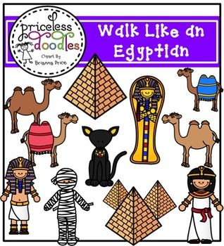 Walk Like an Egyptian (The Price of Teaching Clipart Set)
