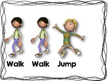 Walk, Running, and Jump Rhythm Cards {Freebie}