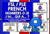 FRENCH NUMBERS 0-31 I HAVE, WHO HAS?