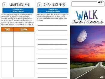 Walk Two Moons Foldable Novel Study Unit