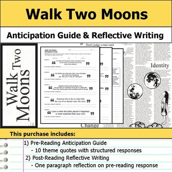 Walk Two Moons - Anticipation Guide & Reflection