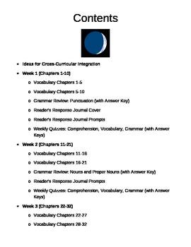 Walk Two Moons Book Unit