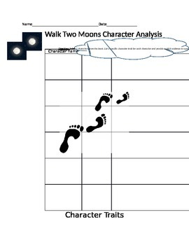 Walk Two Moons Character Analysis