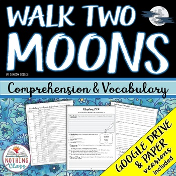 Walk Two Moons: Comprehension and Vocabulary by chapter