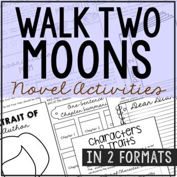 Walk Two Moons Interactive Notebook Novel Unit Study Activities, Book Report
