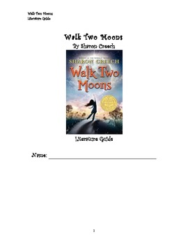 Walk Two Moons Literature Guide