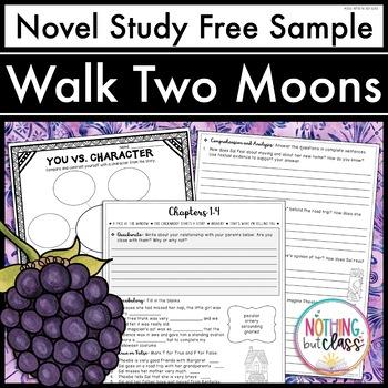 Walk Two Moons Novel Study FREE Sample