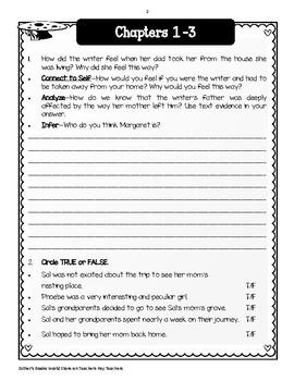 Walk Two Moons - Novel  Study Freebie