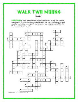 Walk two moons simile crosswordclues are similes from the book walk two moons simile crosswordclues are similes from the book unique ccuart Image collections