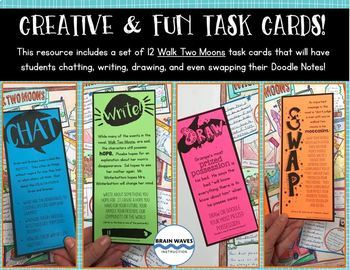 Walk Two Moons Task Cards and Doodle Notes - End of the Book Activity!