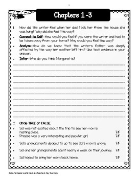Walk Two Moons by Sharon Creech - Comprehension & Vocabulary Unit