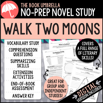 Walk Two Moons by TheBookUmbrella | Teachers Pay Teachers