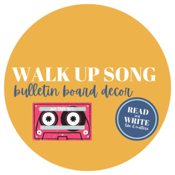 Walk-Up Song Bulletin Board Kit