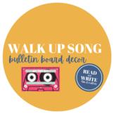 Walk-Up Song Bulletin Board Kit