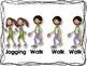 Walk and Jogging Rhythm Cards {Freebie}