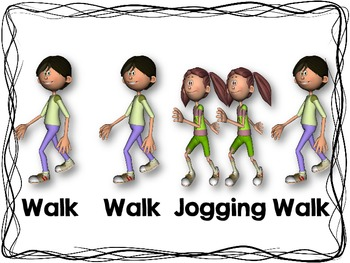 Walk and Jogging Rhythm Cards {Freebie}