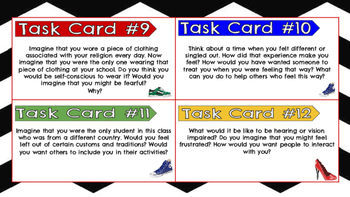 Walk in Another's Shoes: 15 Task Cards to Promote Tolerance and Understanding