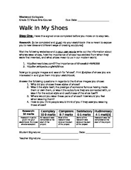 Walk in My Shoes- Senior Edition