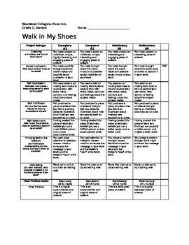 Walk in My Shoes- Senior Edition Marking Sheet