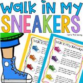 Walk in my sneakers empathy activity; Social emotional learning, social skills
