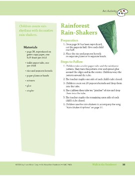 Walk in the Rainforest: Art and Cooking Activity