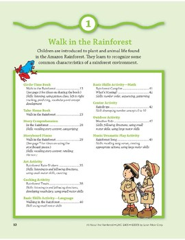 Walk in the Rainforest: Outdoor Activity & Dramatic Play
