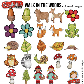 "Woodland Clip Art: ""Walk in the Woods"""