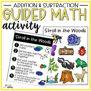 Addition & Subtraction Guided Math Activity Stroll in the Woods