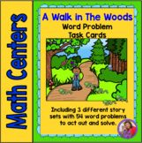 Walk in the Woods Story Problem Task Cards - Correlated to