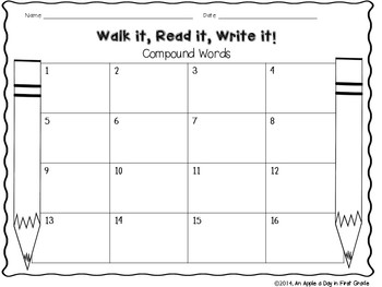 Walk it, Read it, Write it!  Compound Words