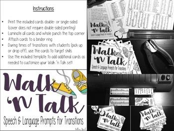Walk 'n Talk: Speech & Language Prompts for Transitions