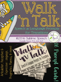Walk 'n Talk: Speech & Language Prompts for Transitions