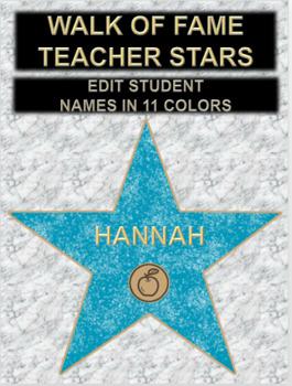 Walk of Fame Teacher Stars
