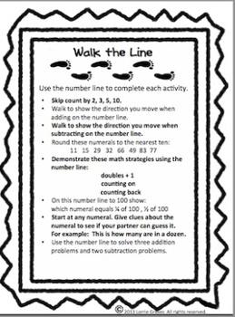 Walk the Line Math Activity