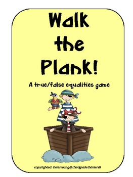 Walk the Plank: An Addition Comparing Numbers Game
