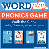 Walk the Plank Ending Blends Phonics Game - Words Their Way Game