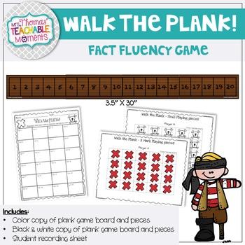 Walk the Plank - Fact Fluency Game