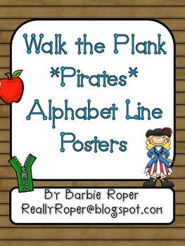 Walk the Plank Pirates Alphabet Line