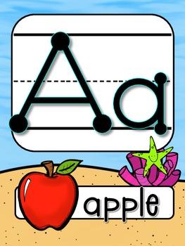 Ocean Alphabet Line