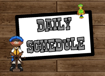 Walk the Plank Pirates Daily Schedule