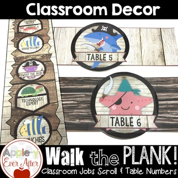 Walk the Plank Series - Pirate Class Job Scroll & Table Numbers